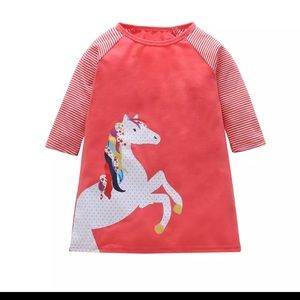 Other - NWT coral unicorn dress